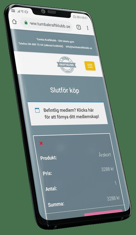I ett smidigt utcheckningsflöde fyller användaren enkelt i sina uppgifter och väljer betalningsmetod